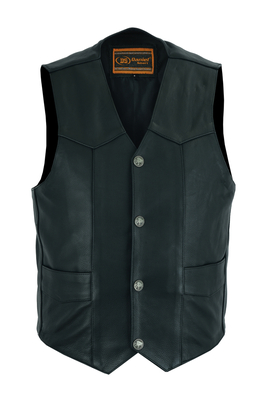 Image DS116 Advance Men's Buffalo Nickel Head Snap Vest