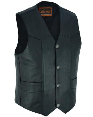 DS116 Advance Men's Buffalo Nickel Head Snap Vest