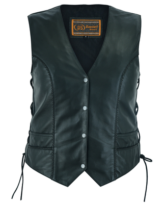 Image DS223 Women's Ultra-Thin  Braided Vest