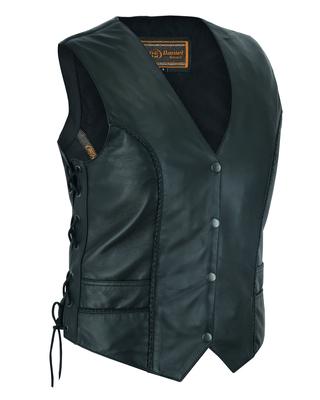 DS223 Women's Ultra-Thin  Braided Vest