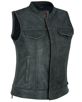 DS229  Women's Premium Single Back Panel Concealment Vest - GRAY