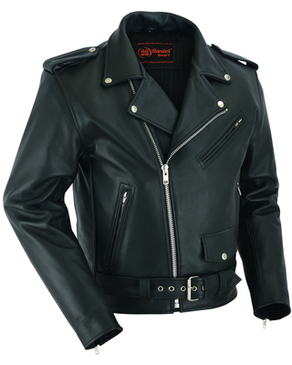 DS761 Motorcycle Classic Biker Leather Jacket