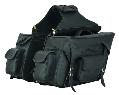 Image DS322 Two Strap Saddle Bag