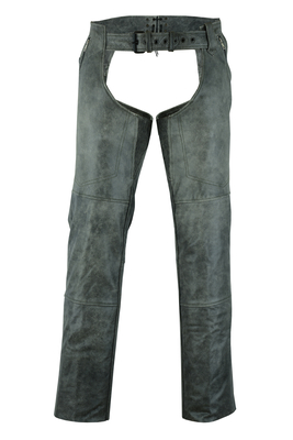 DS413 Unisex Double Deep Pocket Thermal Lined Chaps – GRAY