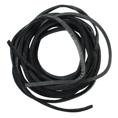 SLBLACK 6' Feet Leather Laces - Black