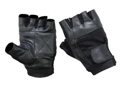 Image DS12 Leather / Mesh Fingerless Glove