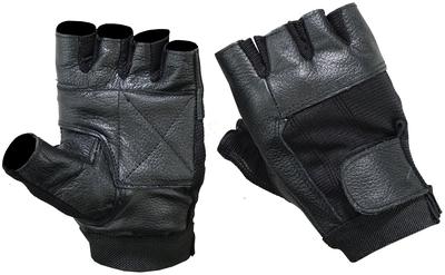DS12 Leather / Mesh Fingerless Glove