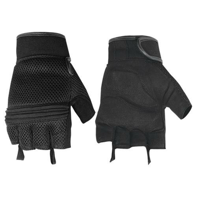 Image DS10 Synthetic Leather/ Mesh Fingerless Glove