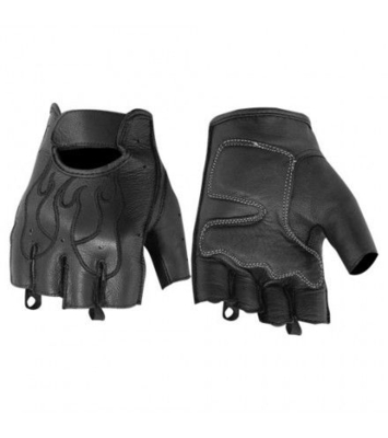Image DS13BK Embroidered Fingerless Glove