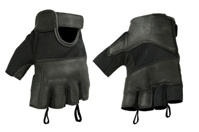 Image DS17 Synthetic Leather/ Mesh Fingerless Glove