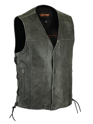 DS105V Men's Gray Single Back Panel Concealed Carry Vest