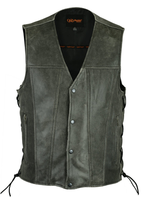 Image DS105V Men's Single Back Panel Vest (Brown)