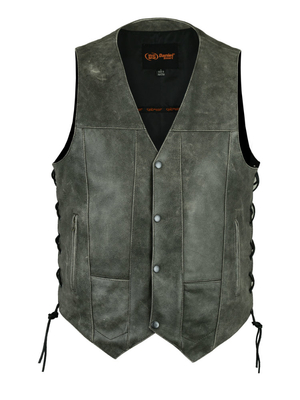 Image DS100V Men's 10 Pocket Utility Vest (Gray)