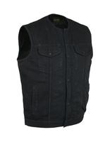 Image DM981BK Concealed Snaps, Denim Material, Hidden Zipper, w/o Collar