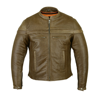 Image DS701R Men's Brown Sporty Scooter Jacket