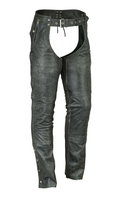 Image DS478V Unisex Double Deep Pocket Thermal Lined Chaps (Gray)