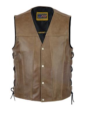 Image DS105R Men's Brown Single Back Panel Concealed Carry Vest