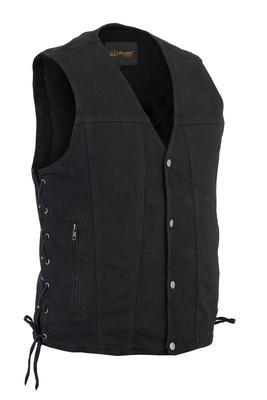 DM905BK Men's Single Back Panel Concealed Carry Denim Vest