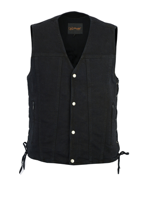 Image DM905BK Men's Single Back Panel Concealed Carry Denim Vest