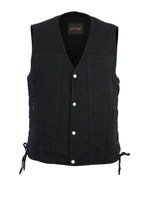 Image DM905BK Men's Single Back Panel Concealed Carry Denim Vest