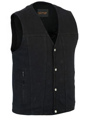DM925BK Men's Single Back Panel Concealed Carry Denim Vest