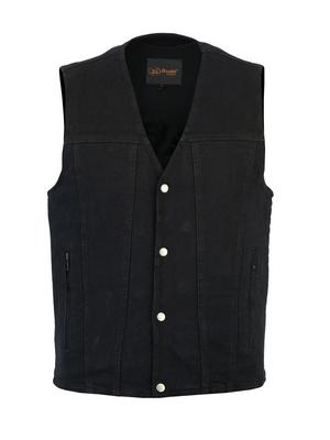 Image DM925BK Men's Single Back Panel Concealed Carry Denim Vest