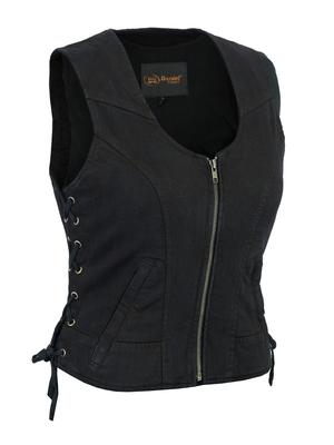 Image DM942BK Women's Stylish Black Denim Vest