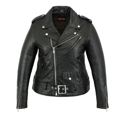 Image DS850 Women's Classic Plain Side Fit M/C Style Jacket