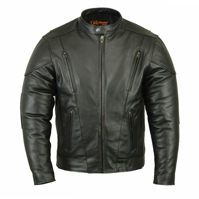 Image DS779 Men's Vented M/C Jacket w/ Plain Sides