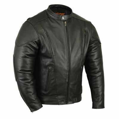 DS779 Men's Vented M/C Jacket w/ Plain Sides