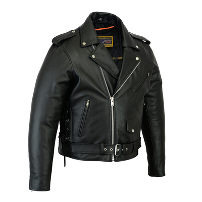 Image DS731 Men's Classic Side Lace Police Style M/C Jacket