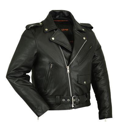 Image DS730 Men's Classic Plain Side Police Style M/C Jacket