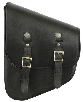 DS4010L Left Side Premium Leather Swing Arm Bag W/ Buffalo Snaps