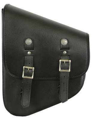 DS5010L Left Side Synthetic Leather Swing Arm Bag W/ Buffalo Snaps