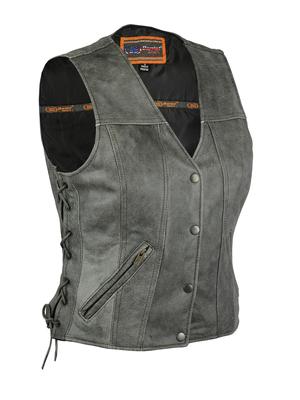 DS205V Women's Gray Single Back Panel Concealed Carry Vest