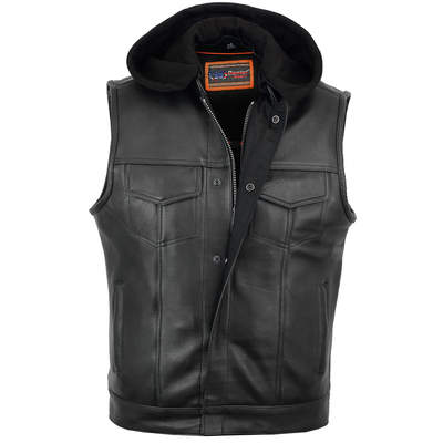 Image DS182 Concealed Snaps, Premium Naked Cowhide, Removable Hood & Hidden Zipper