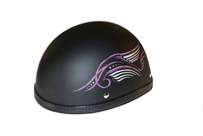 Image H31PU Novelty Eagle Purple Tribal Wings/Flat Black- Non-DOT