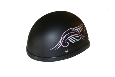 Image H31PK Novelty Eagle Pink Tribal Wings/Flat Black- Non-DOT