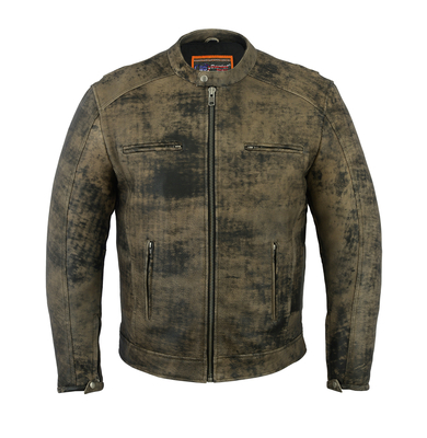 Image DS736   Men's Antique Brown Cruiser Jacket