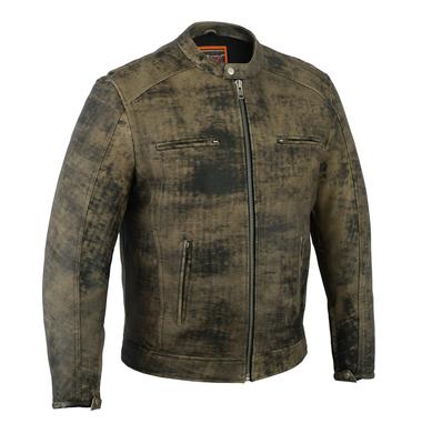 DS736 Men's Antique Brown Cruiser Jacket
