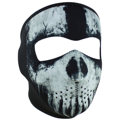 Image WNFM409 ZAN® Full Mask- Neoprene- Skull Ghost