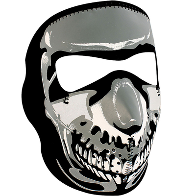 Image WNFM023 ZAN® Full Mask- Neoprene- Chrome Skull