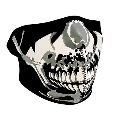 Image WNFM023H ZAN® Half Mask- Neoprene- Chrome Skull