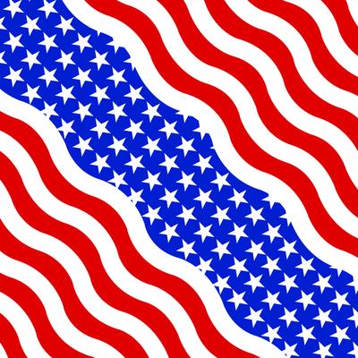 Image B005- Bandanna Wavy American Flag