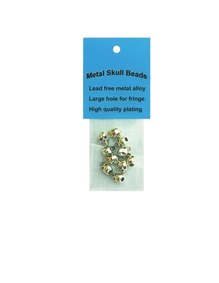 Image J331 Chrome Metal Skull Beads- 10 per Pack