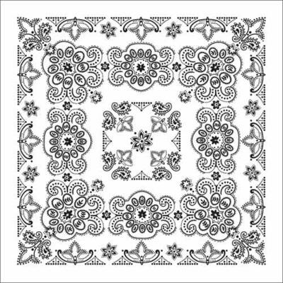 "Image BD2506 Bandana Texas Paisley White [27"" x27""]"
