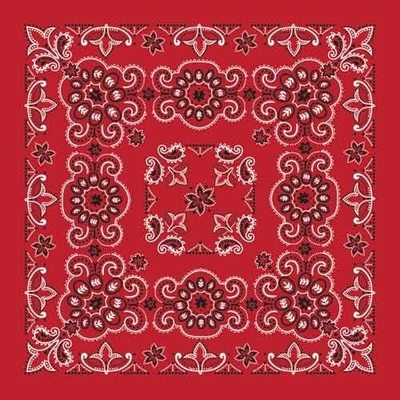 "Image BD2507 Bandana Texas Paisley Red [27"" x27""]"