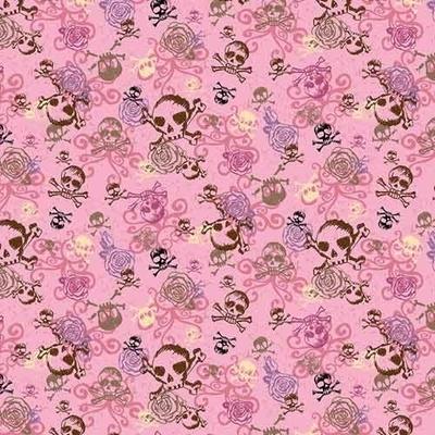 Image BD2516 Bandana Pink Skulls