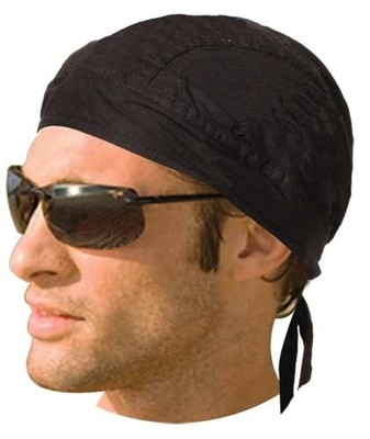 Image HW2609 Headwrap Solid Black (Unlined)