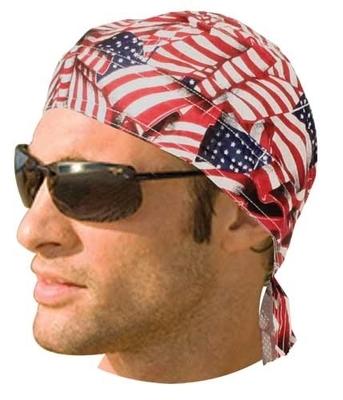 Image HW2612 Heaadwrap Tossed American Flag